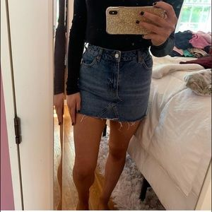 Top Shop denim mini skirt